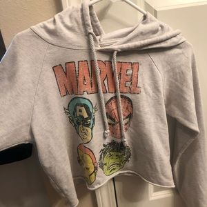 Tops - Vintage Marvel crop sweatshirt